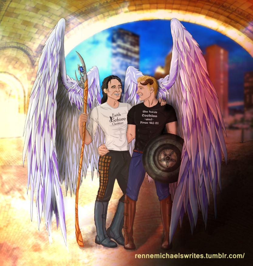 Angel Loki Demon Steve Rogers