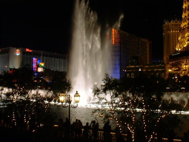 the Bellagio fountains on thursday evening