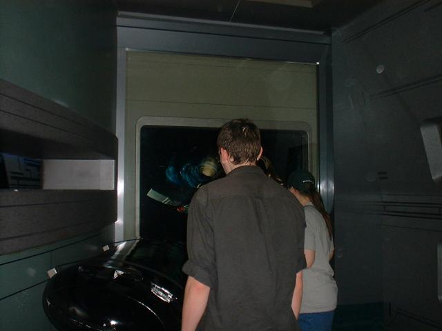 Catrice and IB at the Star Wars Experience at the Hilton Hotel looking at the capsle that shot Spock's body into space