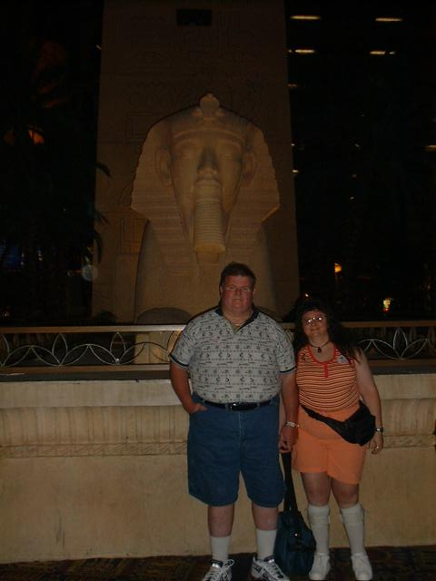 HubbyEd and Micro Mary at the Luxor